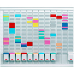 Professional Planner - 80x73x1.5 cm - 100 schede indice 1 bianche e 1000 schede indice 2 colorate incluse - Nobo