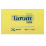 Blocco foglietti - giallo pastello - 76 x 127mm - 63gr - 100 fogli - Tartan