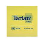 Blocco foglietti - giallo pastello - 76 x 76mm - 63gr - 100 fogli - Tartan
