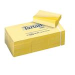 Blocco foglietti - giallo pastello - 51 x 38mm - 63gr - 100 fogli - Tartan