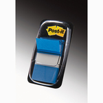 Segnapagina Post it® Index Medium - 25,4x43,2 mm - blu - Post it® - conf. 50 pezzi