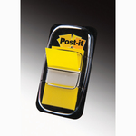 Segnapagina Post-it® Index Medium - 25.4x43.2 mm - giallo - dispenser da 50 segnapagina