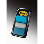 Segnapagina Post-it® Index Medium - 25.4x43.2 mm - blu vivace - dispenser da 50 segnapagina