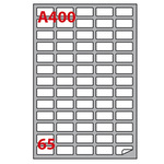 Etichetta adesiva A400 Markin - bianco - 38.1x21.2 mm - 65 etichette per foglio - scatola 100 fogli A4