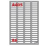 Etichetta adesiva A405 - permanente - 46x11,1 mm - 84 etichette per foglio - bianco - Markin - scatola 100 fogli A4