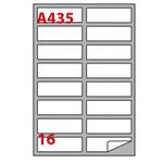 Etichetta adesiva A435 Markin - bianco - 99.1x34 mm - 16 etichette per foglio - scatola 100 fogli A4