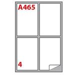Etichetta adesiva A465 - permanente - 139x99,1 mm - 4 etichette per foglio - bianco - Markin - scatola 100 fogli A4