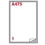 Etichetta adesiva A475 - permanente - 199,6x289,1 mm - 1 etichetta per foglio - bianco - Markin - scatola 100 fogli A4