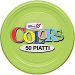 Stoviglie monouso in plastica colorata