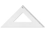 Squadra linea Profil - alluminio - 45gradi - 35cm - Arda