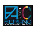 Blocco FaColore - 33x48cm - 25 fogli - 220gr - 5 colori - Fabriano
