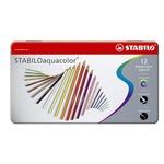Stabilo Aquacolor 1612 - tratto 2,80mm - colori assortiti - Stabilo - scatola 12 pastellli