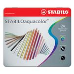 Stabilo Aquacolor 1624 - tratto 2,80mm - colori assortiti - Stabilo - astuccio 24 pastellli