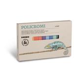 Gessetti quadrati Policromi - 13x13x80mm - quadrati  - Primo - astuccio 12 colori