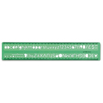 Normografo lettere e cifre Uni - 10mm - verde - Arda