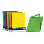 Cartelline a L con finestra - cartoncino 140 gr - 22x31 cm - giallo sole - Favini - conf. 10 pezzi