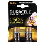 Blister 4 pile Mini Stilo AAA - Plus - MN2400 - Duracell