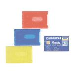 Porta Cards rigido - PVC - 8,5x5,4 cm - colori assortiti - Favorit