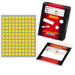 Etichetta adesiva - permanente - tonda ø 10 mm - 120 etichette per foglio - 10 fogli per busta - giallo - Markin