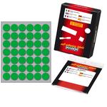 Etichetta adesiva Markin - verde - tonda ø 18 mm - 42 etichette per foglio - 10 fogli per busta