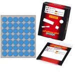 Etichetta adesiva - permanente - tonda ø 18 mm - 42 etichette per foglio - 10 fogli per busta - blu - Markin