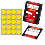 Etichetta adesiva - permanente - tonda ø 27 mm - 20 etichette per foglio - 10 fogli per busta - giallo - Markin