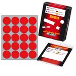 Etichetta adesiva - permanente - tonda ø 27 mm - 20 etichette per foglio - 10 fogli per busta - rosso - Markin