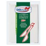 Coltelli Compact Plus - monouso - polistirene - Dopla - conf. 100 pezzi