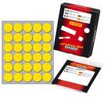 Etichetta adesiva - permanente - tonda ø 22 mm - 30 etichette per foglio - 10 fogli per busta - giallo - Markin