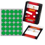 Etichetta adesiva - permanente - tonda ø 22 mm - 30 etichette per foglio - 10 fogli per busta - verde - Markin