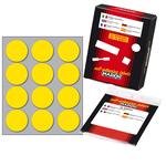 Etichetta adesiva - permanente - tonda ø 34 mm - 12 etichette per foglio - 10 fogli per busta - giallo - Markin