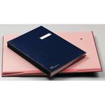 Libro firma - 14 intercalari rinforzati - 24x34 cm - blu - Fraschini