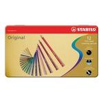 Stabilo Original 8773 - tratto 2,80mm - colori assortiti - Stabilo - astuccio 12 pastelli colorati