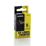 Nastro 9mm x 8mt - nero su giallo - Casio
