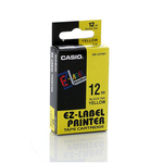 Nastro - 12 mm x 8 mt - nero/giallo - Casio