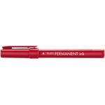 Marcatore Tratto Permanent Ink - punta tonda 2,00mm - rosso - Tratto - conf. 12 pezzi