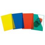 Cartelline a L Pratic - Superior - PPL - buccia - 22x30 cm - rosso - Favorit - conf. 50 pezzi