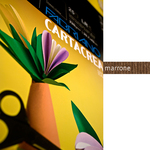 Cartoncino CartaCrea - 35x50cm - 220gr - marrone 106 - Fabriano - Conf.10 fogli