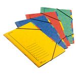 Classificatore numerico 1/12 - 12 scomparti - con elastici - 24x34 cm - colori assortiti - Fraschini