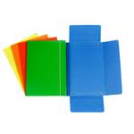 Cartellina con elastico - cartone plastificato - 3 lembi - 17x25 cm - azzurro - Cartotecnica del Garda