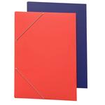 Cartellina con elastico - cartone plastificato - 70x100 cm - rosso - Cartotecnica del Garda