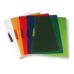 Cartellina con molla Clipper - 22x30 cm - trasparente rosso - Fellowes