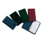 Portabiglietti da visita - 23x12 cm - tessuto - bordeaux - Niji Italiana