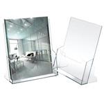 Portadepliant - polistirolo trasparente - 23x25,5x3 cm - Lebez