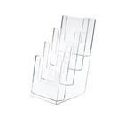 Portadepliant - polistirolo trasparente - 11x25x14 cm - Lebez