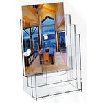 Portadepliant - polistirolo trasparente - 23x33x14 cm - Lebez