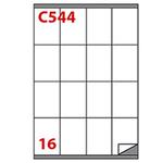 Etichetta adesiva C544 - permanente - 72x53 mm - 16 etichette per foglio - bianco - Markin - scatola 100 fogli A4