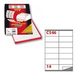 Etichetta adesiva C546 - permanente - 105x40 mm - 14 etichette per foglio - bianco - Markin - scatola 100 fogli A4