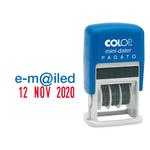 Timbro Mini Dater S160/L1 Datario + RICEVUTO - 4 mm - autoinchiostrante - Colop®