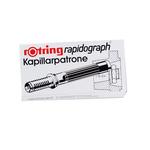 Scatola 3 cartucce capillari per penne Rapidograph - rosso - Rotring